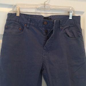 Men's Asos Blue Button Fly Straight Leg Jeans